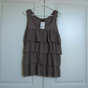 H&M Tiered Ruffled Tank Top ~ New With Tag